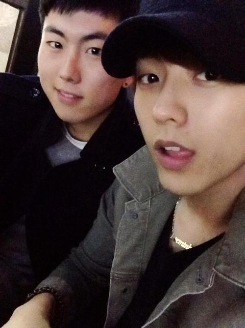 [TWITTER] 13.01.2013 Minhyuk & @lionel_junpyo_h